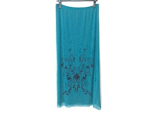 ヴィヴィアンタム ロングスカート サイズ2 S レディース美品  グリーン×黒 刺繍