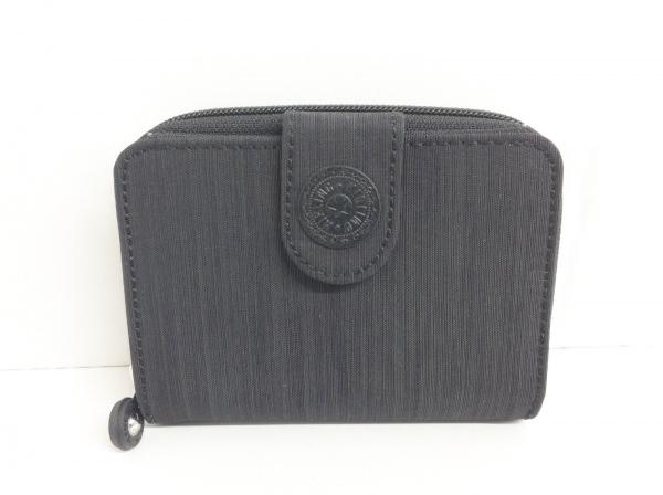 Kipling(キプリング) 2つ折り財布 黒 ラウンドファスナー ナイロン