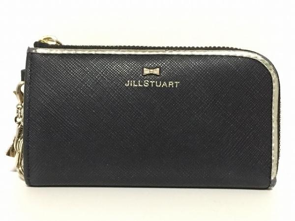 JILL STUART(ジルスチュアート) キーケース 黒×ゴールド 3連フック レザー
