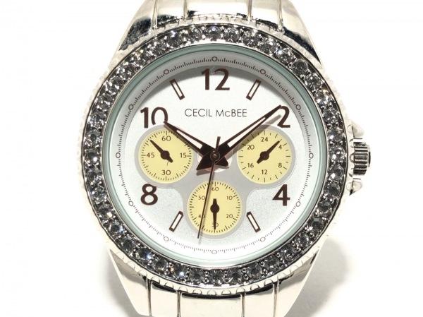 CECILMcBEE(セシルマクビー) 腕時計 CMB025 レディース シルバー×アイボリー
