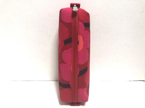 marimekko(マリメッコ) ペンケース レッド×ピンク×マルチ 花柄 コットン
