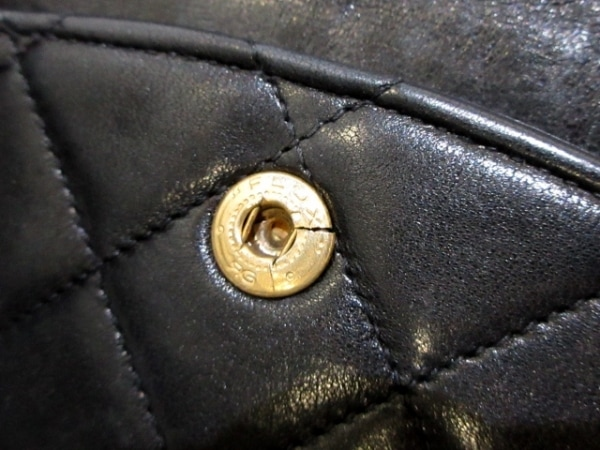 シャネル ショルダーバッグ ダブルフラップマトラッセ A01112 黒 8