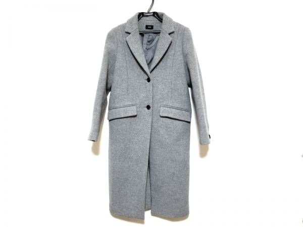 NINE(ナイン) コート サイズ0 XS レディース美品  グレー 冬物