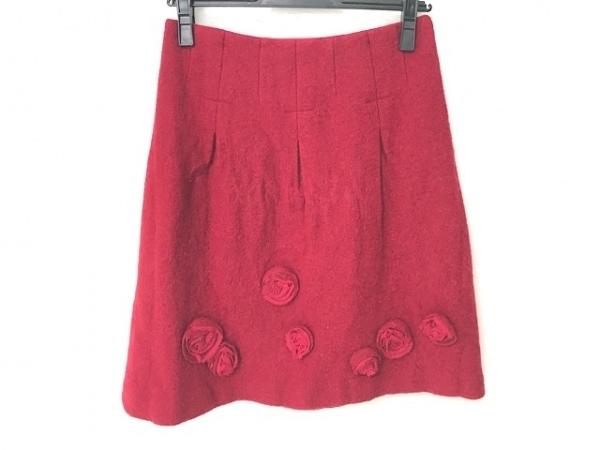 M'S GRACY(エムズグレイシー) スカート サイズ38 M レディース レッド フラワー