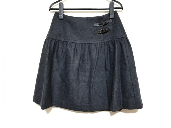 バーバリーブルーレーベル 巻きスカート サイズ36 S レディース美品  ダークグレー