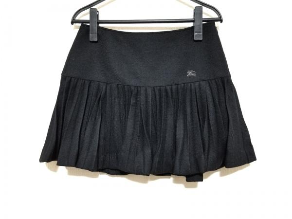 バーバリーブルーレーベル ミニスカート サイズ38 M レディース美品  黒 プリーツ