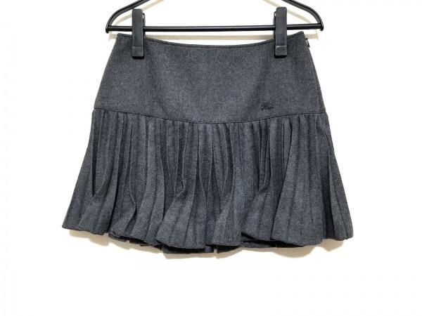バーバリーブルーレーベル ミニスカート サイズ38 M レディース美品  ダークグレー
