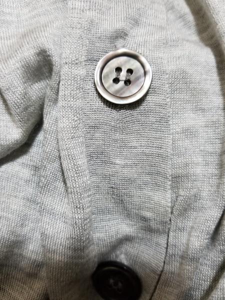 レキップ ヨシエイナバ カーディガン サイズ40 M レディース美品  グレー シルク