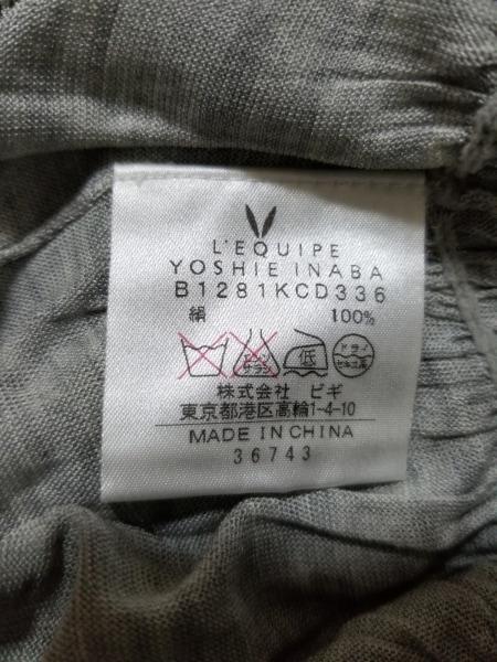 レキップ ヨシエイナバ カーディガン サイズ38 M レディース美品  グレー シルク