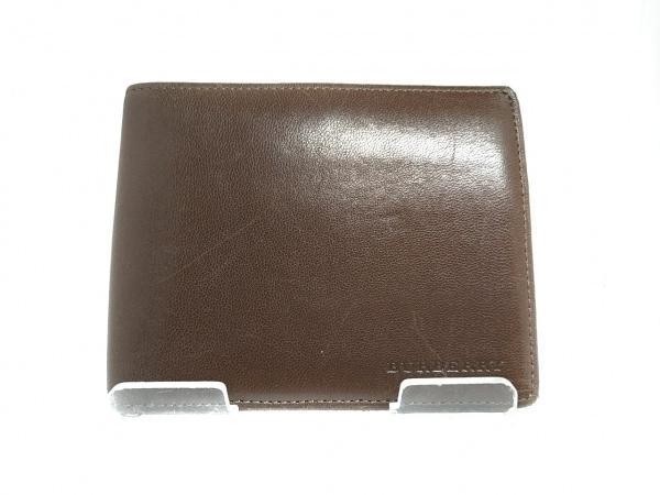 Burberry(バーバリー) 2つ折り財布 ダークブラウン レザー