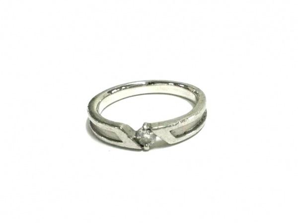 ノーブランド リング美品  Pt900×ダイヤモンド 総重量:3.9g/0.06刻印