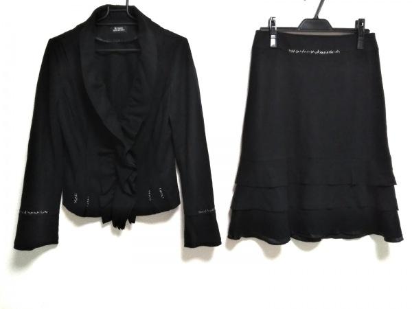 リツコシラハマ スカートスーツ サイズ1 S レディース美品  黒×白