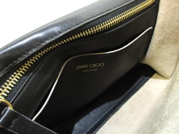 JIMMY CHOO(ジミーチュウ) ショルダーバッグ レベル 黒 チェーンショルダー レザー
