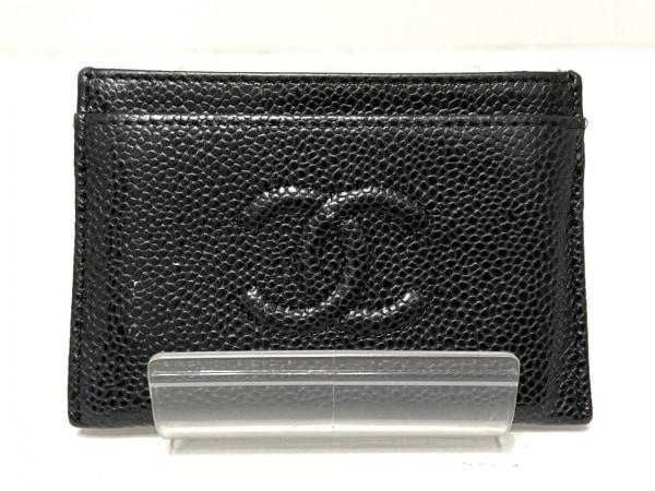 CHANEL(シャネル) カードケース - 黒 キャビアスキン