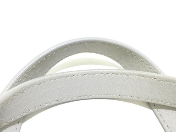 ジミーチュウ トートバッグ ソフィア 白×シルバー レザー×金属素材 5