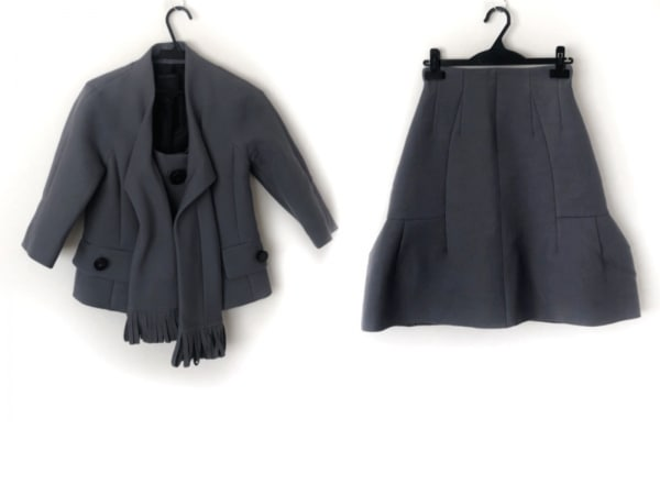 MARC JACOBS(マークジェイコブス) スカートスーツ サイズ0 XS レディース美品  グレー