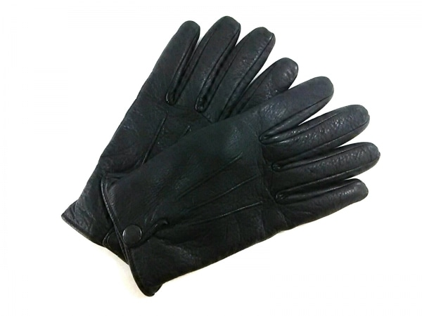 Burberry Black Label(バーバリーブラックレーベル) 手袋 メンズ美品  黒 レザー