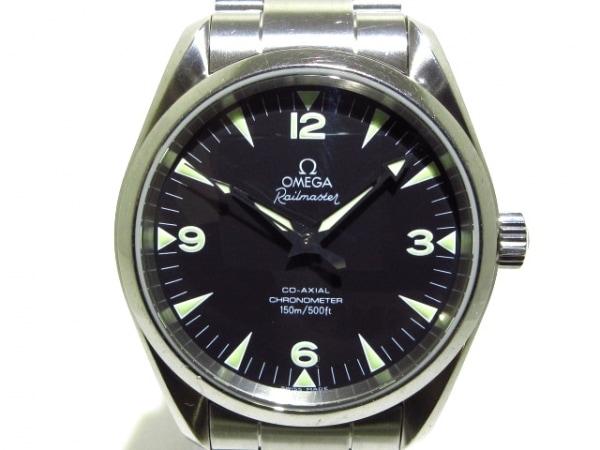 オメガ 腕時計 シーマスター アクアテラ レイルマスター 2503.52 メンズ SS/裏スケ 黒