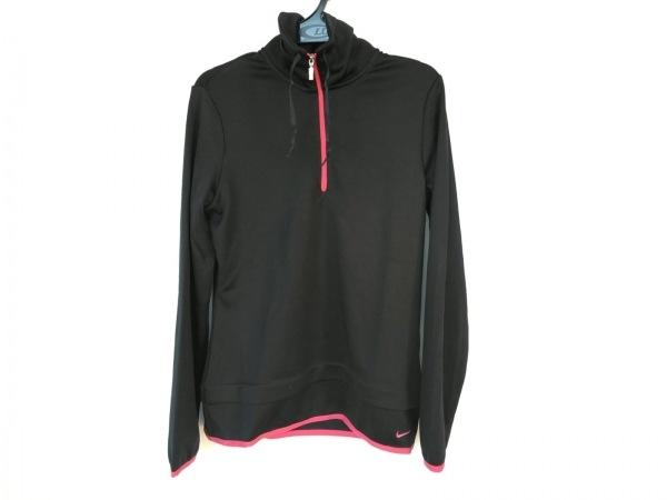 NIKE(ナイキ) ブルゾン サイズM レディース新品同様  黒×ピンク