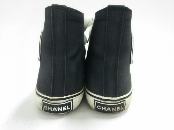 CHANEL(シャネル) スニーカー 37 レディース 黒 ハイカット/ココマーク キャンバス