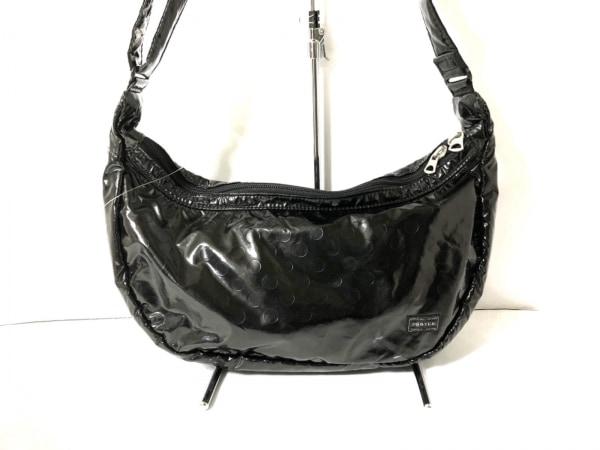 PORTER GIRL(ポーターガール) ショルダーバッグ - 黒 ドット柄 化学繊維