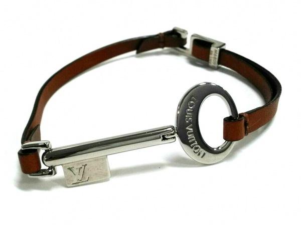 ルイヴィトン ブレスレット美品  トラベルキー ブレスレット M68097 メタル×レザー