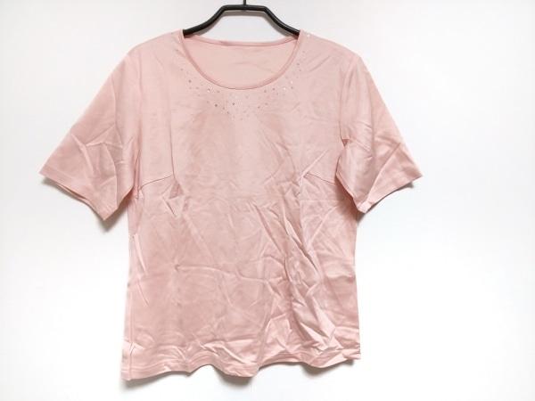 Leilian(レリアン) 半袖Tシャツ サイズ11 M レディース美品  ピンク ラインストーン