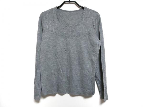 Leilian(レリアン) 長袖カットソー サイズ11 M レディース美品  グレー 刺繍