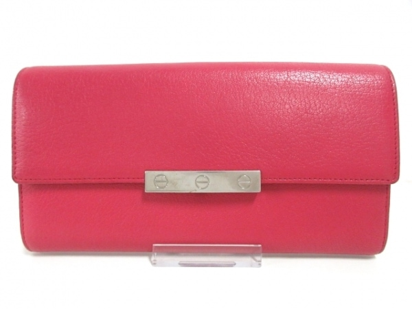 Cartier(カルティエ) 長財布 ラブ ピンク レザー 1
