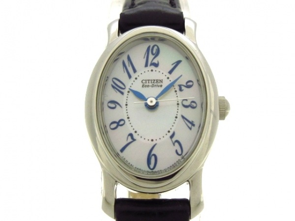 CITIZEN(シチズン) 腕時計美品  B035-K006503 レディース シェルホワイト