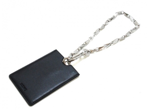 LOEWE(ロエベ) キーホルダー(チャーム) 111.16.026 シルバー×黒 ミラー付き