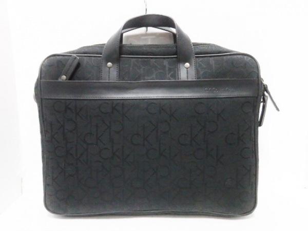 CalvinKlein(カルバンクライン) ビジネスバッグ 黒 ジャガード×レザー