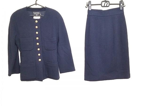 シャネル スカートスーツ サイズ38 M レディース ダークネイビー 1