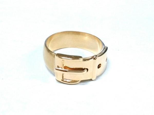 GUCCI(グッチ) スカーフリング美品  - 金属素材 ゴールド 1