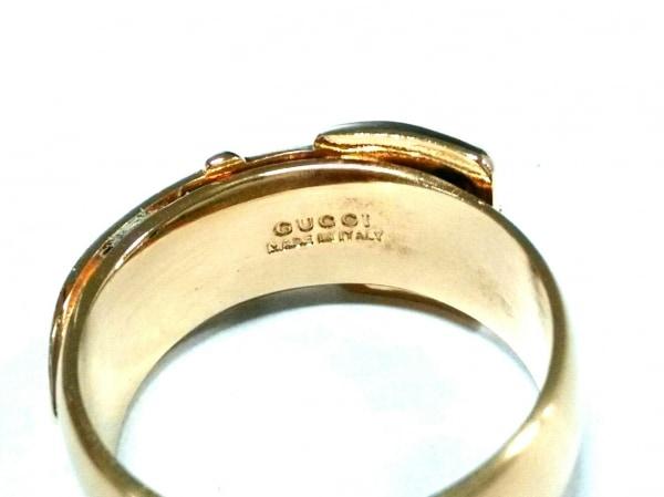 GUCCI(グッチ) スカーフリング美品  - 金属素材 ゴールド 3
