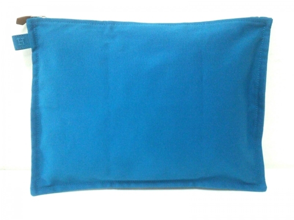 HERMES(エルメス) ポーチ美品  ボラボラ ブルー Lサイズ キャンバス