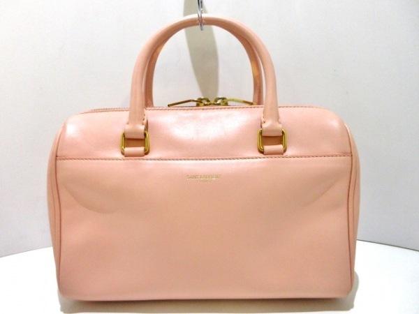 サンローランパリ ハンドバッグ美品  クラシックベイビーダッフル 330958 ピンク