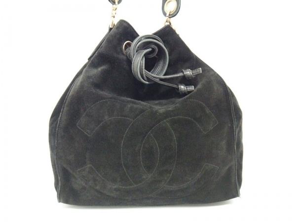 CHANEL(シャネル) ショルダーバッグ - 黒 巾着型 スエード