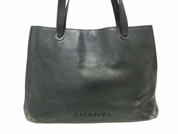 CHANEL(シャネル) トートバッグ - 黒 レザー