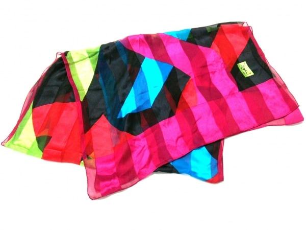 YvesSaintLaurent(イヴサンローラン) スカーフ美品  ピンク×グリーン×マルチ
