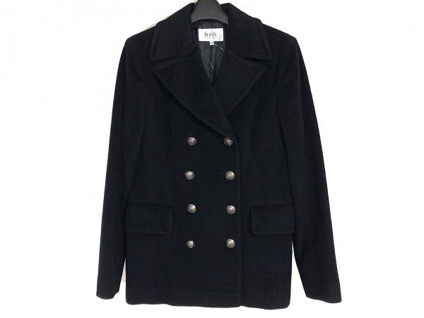 自由区/jiyuku(ジユウク) Pコート サイズ40 M レディース 黒 冬物