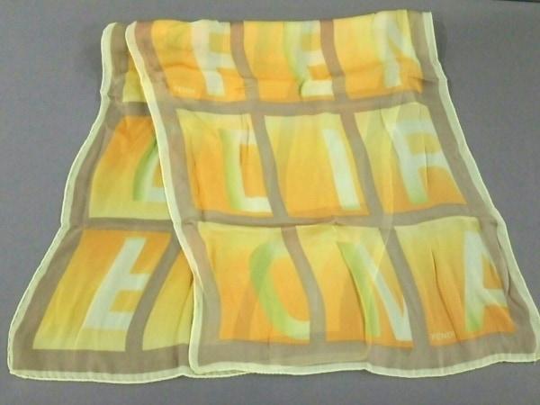 FENDI(フェンディ) スカーフ美品  イエロー×オレンジ×ブラウン