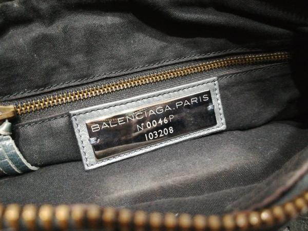 バレンシアガ ハンドバッグ エディターズバッグザファースト 103208 ネイビー レザー