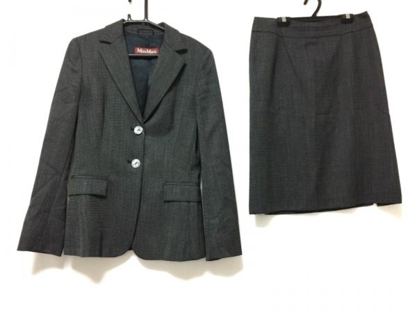 マックスマーラスタジオ スカートスーツ サイズ42 L レディース ダークグレー