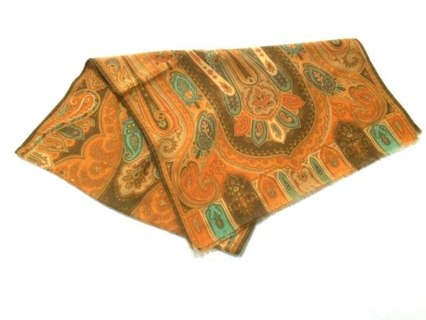 ETRO(エトロ) スカーフ美品  ライトブラウン×マルチ ペイズリー柄