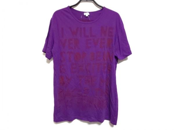 PaulSmith(ポールスミス) 半袖Tシャツ サイズL メンズ パープル×ボルドー