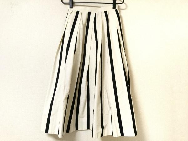 yori(ヨリ) ロングスカート サイズ36 S レディース美品  アイボリー×黒 ストライプ