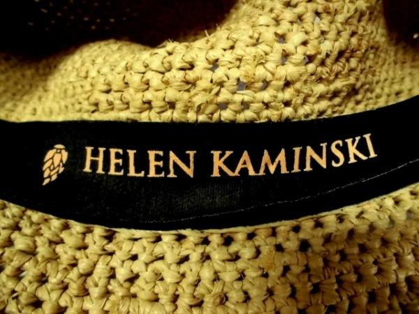 HELEN KAMINSKI(ヘレンカミンスキー) ハット  ベージュ ラフィア 5