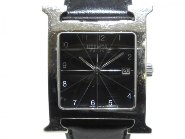HERMES(エルメス) 腕時計 Hウォッチマキシム HH1.810 メンズ 革ベルト/□M刻印 黒