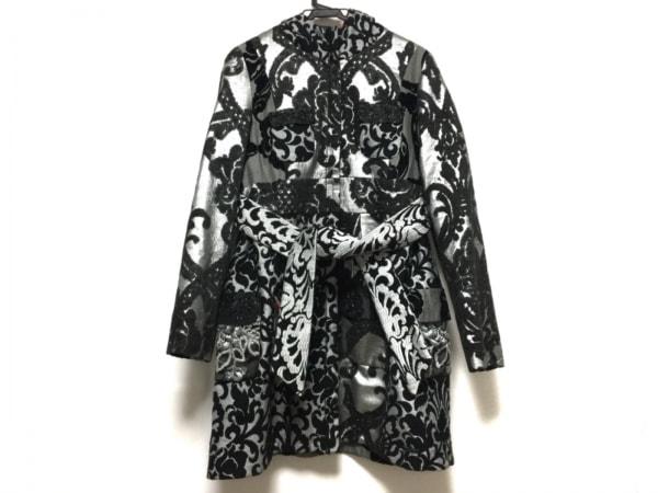 Desigual(デシグアル) コート サイズ40 XL レディース 黒×グレー ジップアップ/冬物